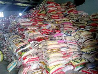 Buy bags of rice 50kg and groundnut oil 25 litres