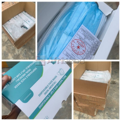 We sell surgical mask (50pcs in a pack) call or whatsapp -