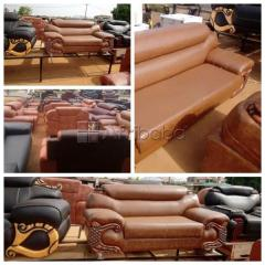 Quality Brown Three Seater Leather Chair @ Collins Enterprises
