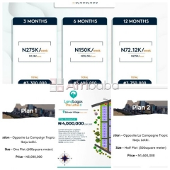 Own a land today at landlagos located at ibeju lekki