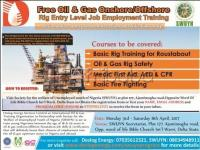 VACANCIES Oil and Gas Onshore/Offshore Entry Level Jobs
