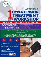 You are Invited to Attend a 1 Day Hypertension Treatment Workshop