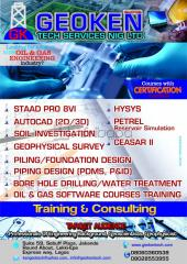 Autocad, piping, hysys,. petrel training