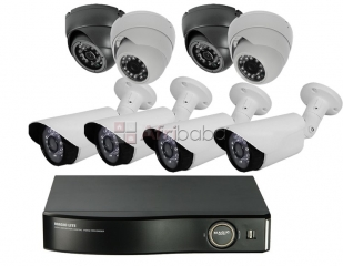 Cctv 4 channel security system for supermarket in benin city.