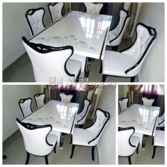 We sell quality marble dining table by 6 seaters (call or whatsapp - 0