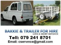 Inter Nation Bakkies for hire with driver