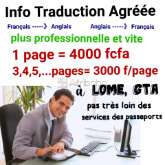 Traduction de documents/ cours d'anglais