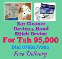 Laptop Tables, ear cleaner and handy stitch Battery machines