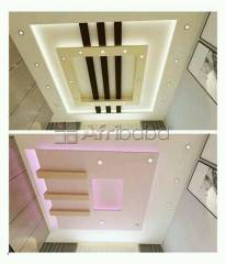 Gypsum ceiling and tv unit designs