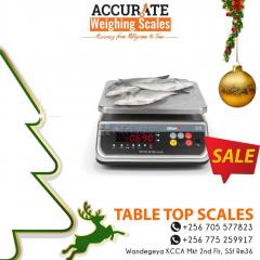 How much is certification for table top weighing scales in Kampala