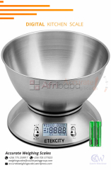 Electronic-Scales-Food-Scale-Stainless-Steel-Weighing scale #1