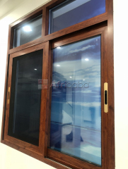 Imported wooden color sliding aluminum windows