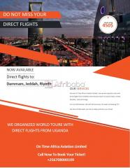 Travel with us direct flight from Entebbe Airport