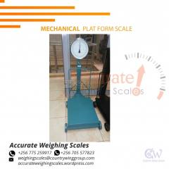 Digital platform scale with stainless-steel  plate at supplier shop