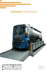 Concrete weighbridge with stainless steel material load cell