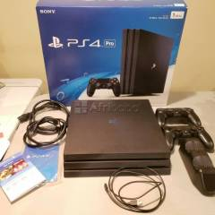 Unbox new sony playstation 4 pro console - jet black