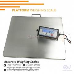 Floor heavy duty scales with in and out ramps for business
