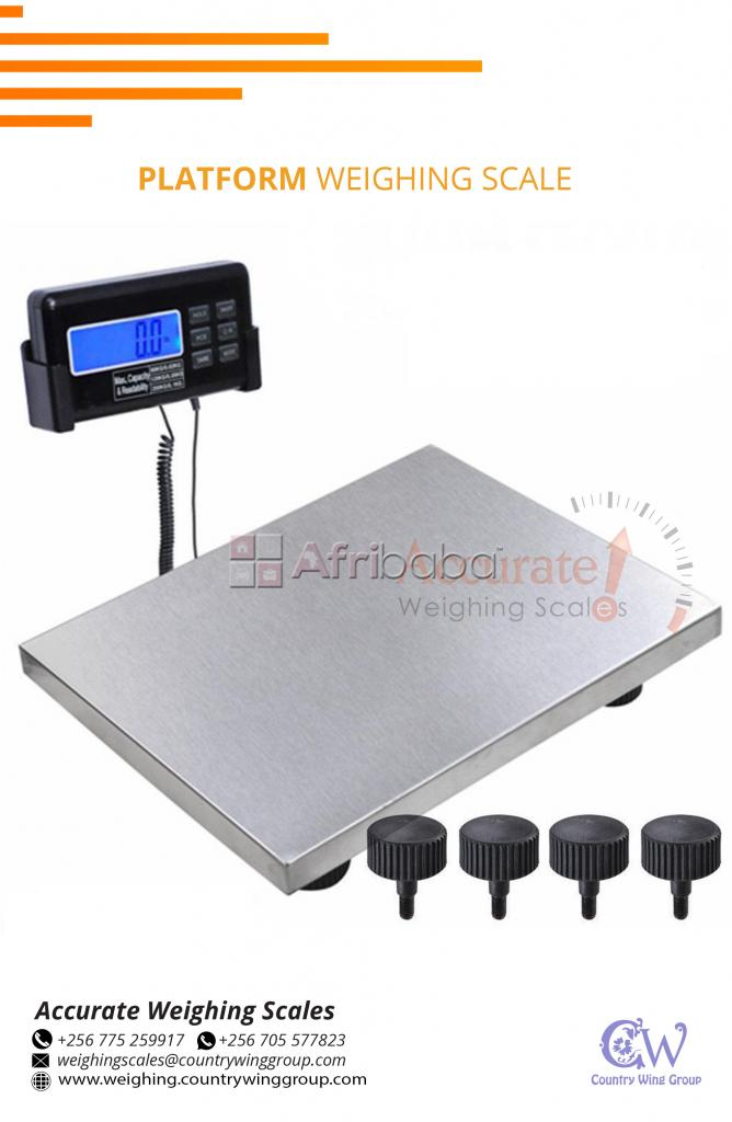 Industrial floor weighing scale with power saving mode indicator