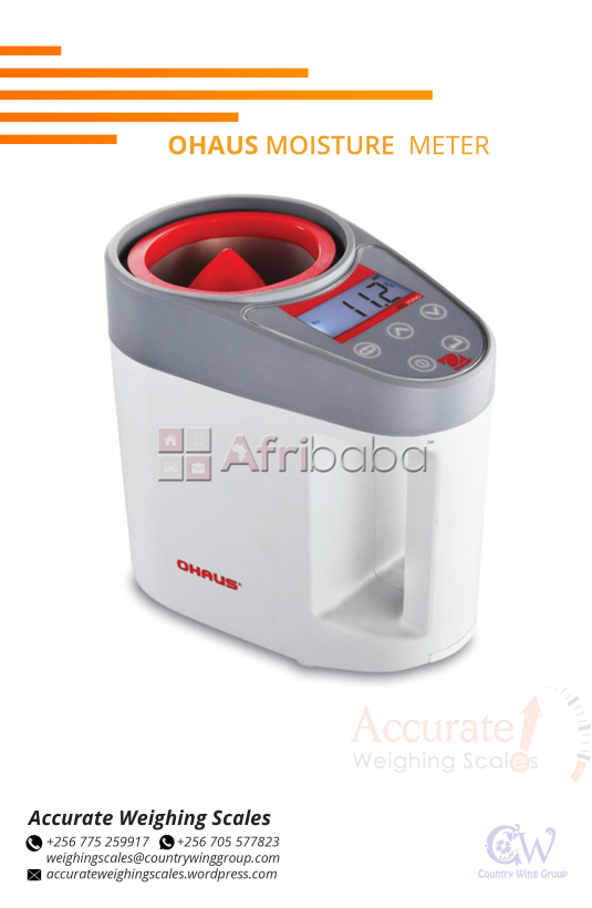 What is the cost of an Ohaus moisture meter for dry grains in Kampala