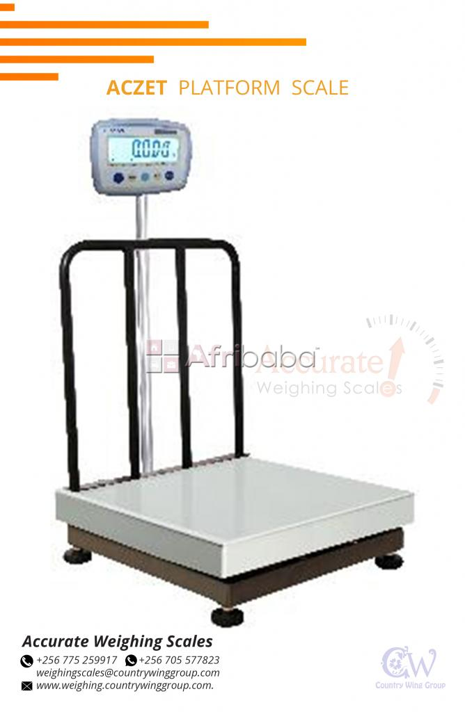 Which supplier sells and repairs platform scales in Bukoto?