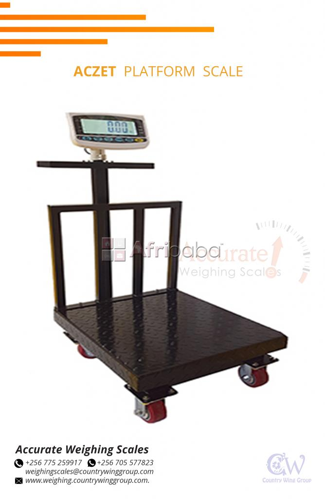 Which shop sells Plaform scales with back light for easy readings?
