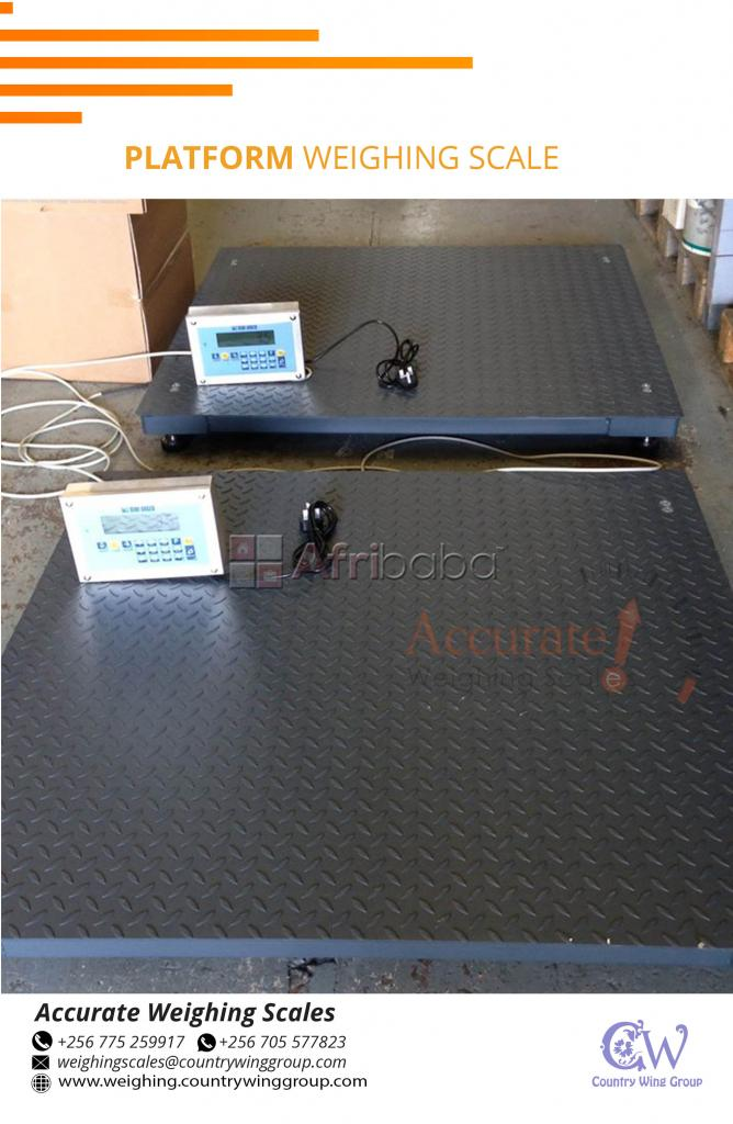 Heavy duty floor weighing scales with steel ramp on market