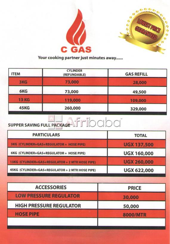CGAS offers the complete cooking setup including GAS and BURNERS #1