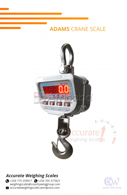 Crane scales with various colors in stock at supplier shop Wandegeya