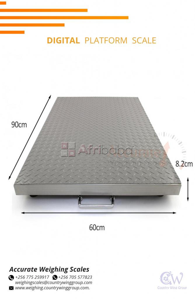 Lndustrial floor scale with optional wireless connection shop