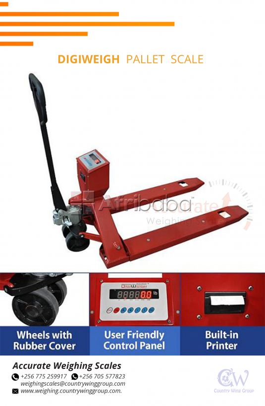 What is the budget of a Diweigh Pallet Truck weighing scales Wandegeya