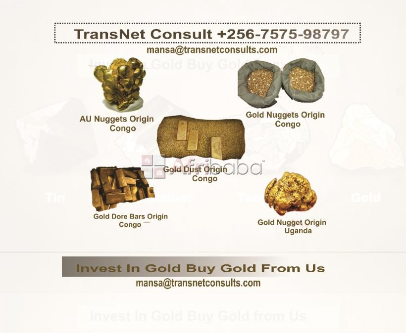 Gold au bars and nuggets