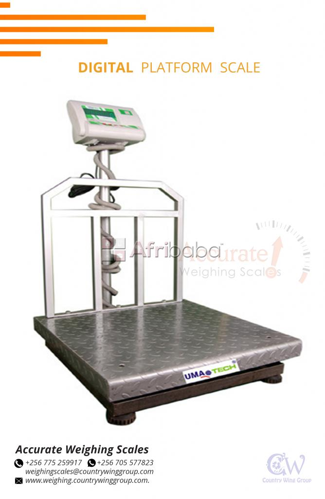 Floor weighing scale with handles for easy movement on market in Lira