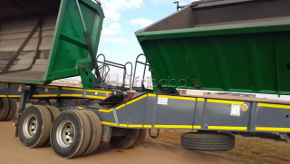 34 ton side tipper truck plant hire call #1