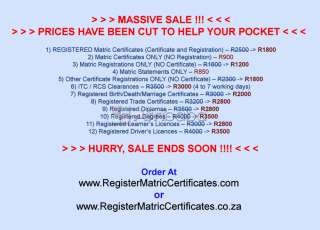 Need a Matric Certificate, Diploma, Degree or Licence?...