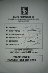 Elite Plumbers - Western Cape/Southern Suburbs
