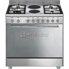 New smeg 90cm stainless steel gas electric stove - ssa92max9