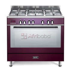 Elba red 90cm fusion 5 burner gas/electric cooker - 9fx827r