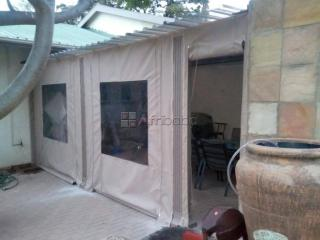Outdoor canvas roller blinds