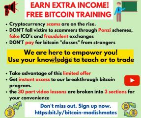 Earn extra income- free bitcoin training (2021)