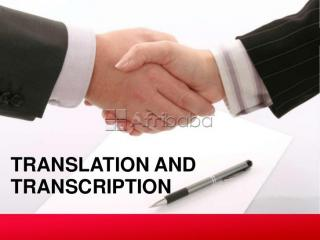 Transcription and translation services in south africa