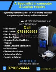 Laptop screen replacement and computer services ,we can also come to y