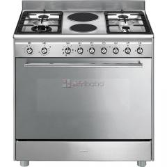 Smeg 90cm gas/electric stainless steel cooker - ssa92max9