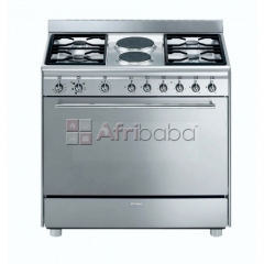 Smeg - 90cm 4 burner gas/ 2 electric cooker - model: ssa92mfx9