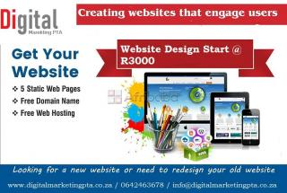 Web design from r3000 | website design pretori, website design midrand