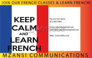 Get conversational with french at mzansi language school!