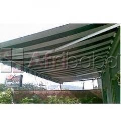 Retractable awining and arms folding awning and other awning