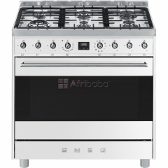Smeg 90cm Stainless Symphony White Cooker Multifunction Oven. ON-SALES