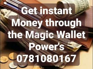 Magic wallet for money and financial protection