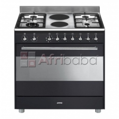 Smeg 90cm anthracite concert cooker & multifunction oven - ssa92maa9