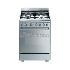 Smeg 60cm Stainless Steel Concert Cooker with 4 Burner Gas/Electric